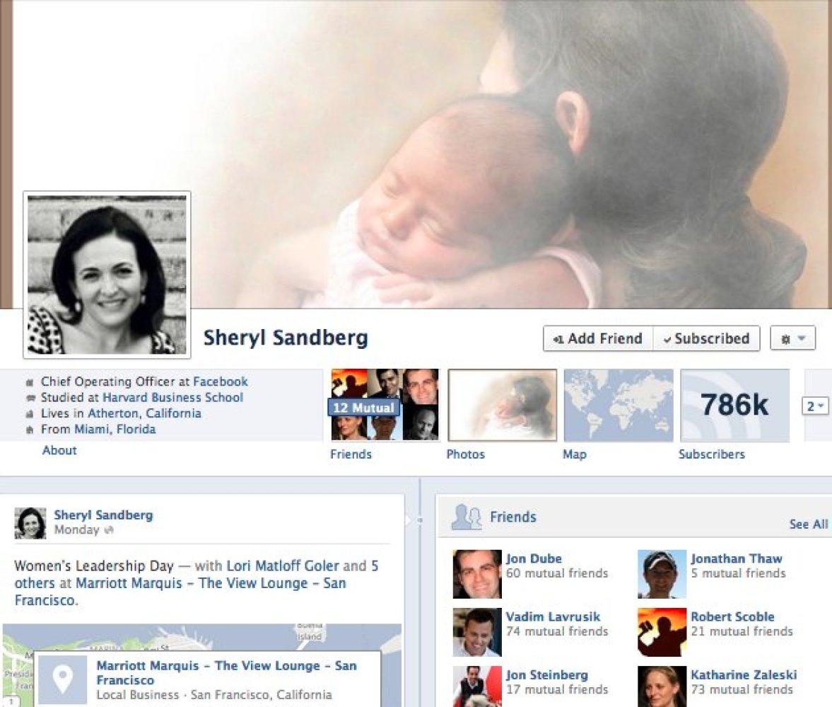 "Chief Operating Officer at Facebook <a href=""http://www.facebook.com/sheryl"" target=""_hplink"">http://www.facebook.com/sheryl"