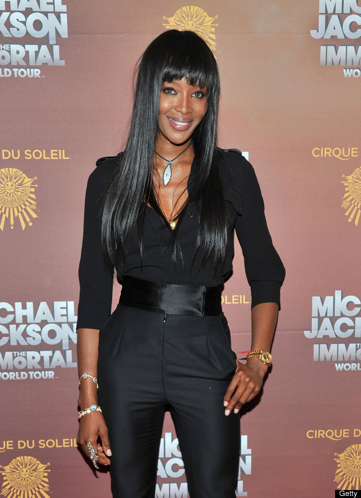 NEW YORK, NY - APRIL 03:  Model Naomi Campbell attends Michael Jackson THE IMMORTAL World Tour show by Cirque du Soleil at Ma