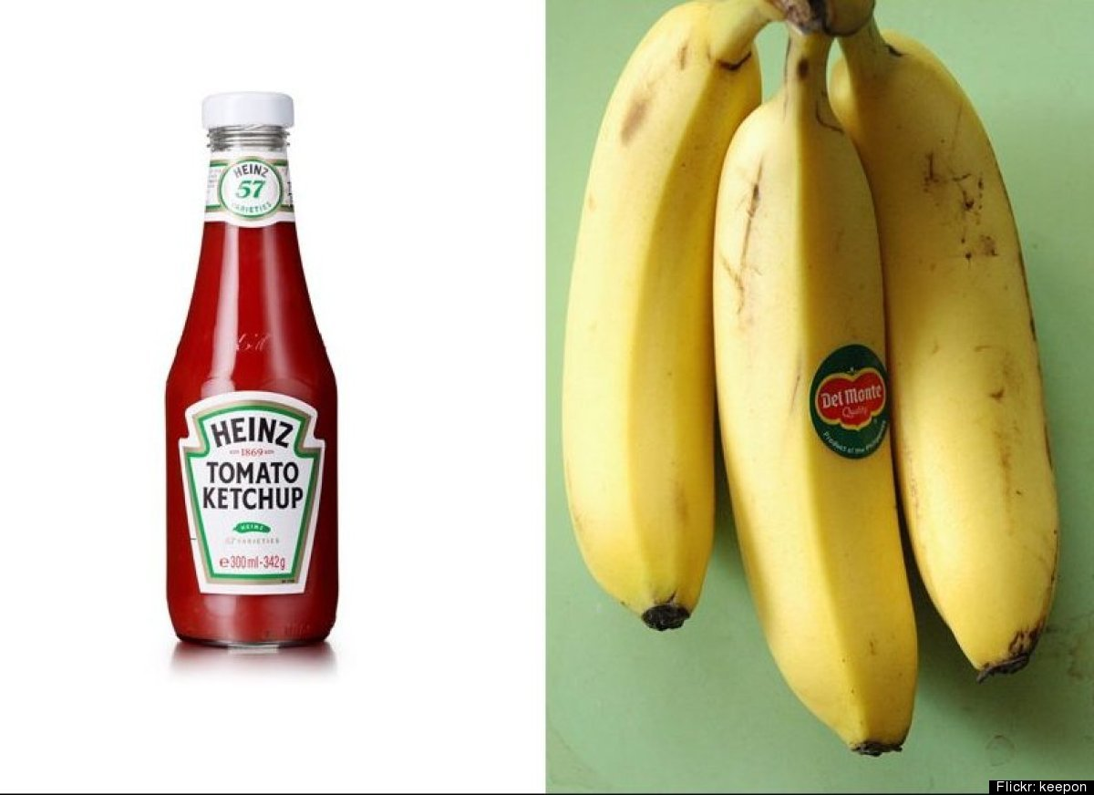 Looks like ketchup isn't just for french fries and burgers anymore. FoodPairing has found that it goes well with bananas, too