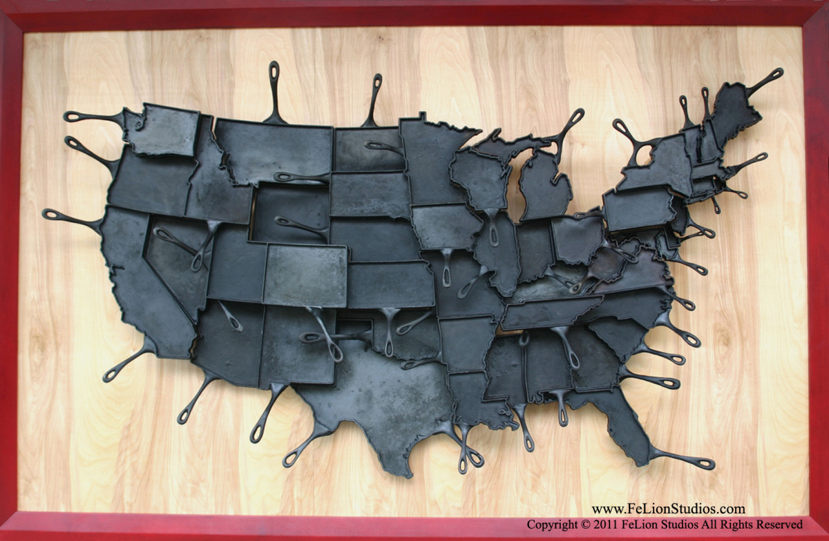 "All 48 states of ""Made In America""."