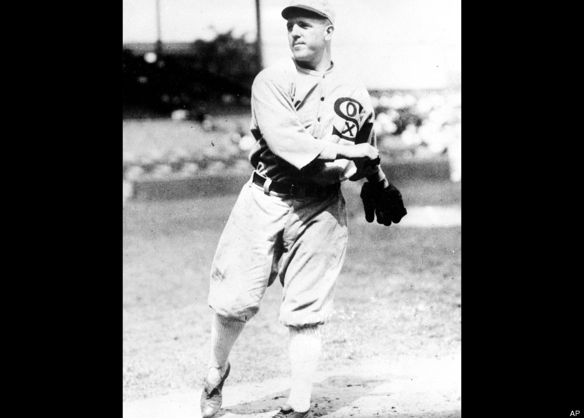 March 12, 1921 - Accused of throwing the 1919 World Series, Chicago White Sox pitchers Eddie Cicotte (shown here) and Claude