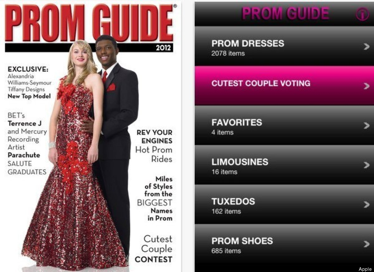 Prom-goers can browse through dresses, tuxedos, shoes and many more accessories in PromGuide and craft the perfect outfit.