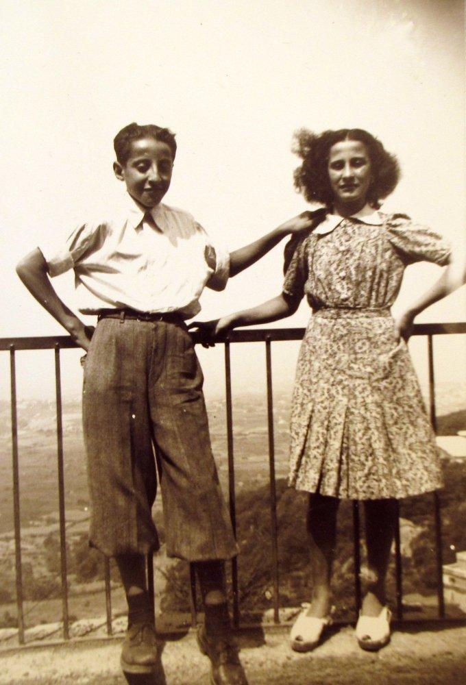 Undated photograph of Amedeo Di Cori with his sister, Rina Di Cori.   Photo by Aby Sam Thomas.