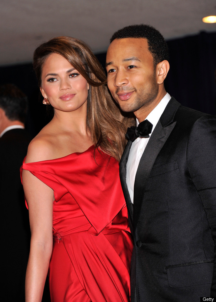 WASHINGTON, DC - APRIL 28:  John Legend and Chrissy Teigen attend the 98th Annual White House Correspondents' Association Din