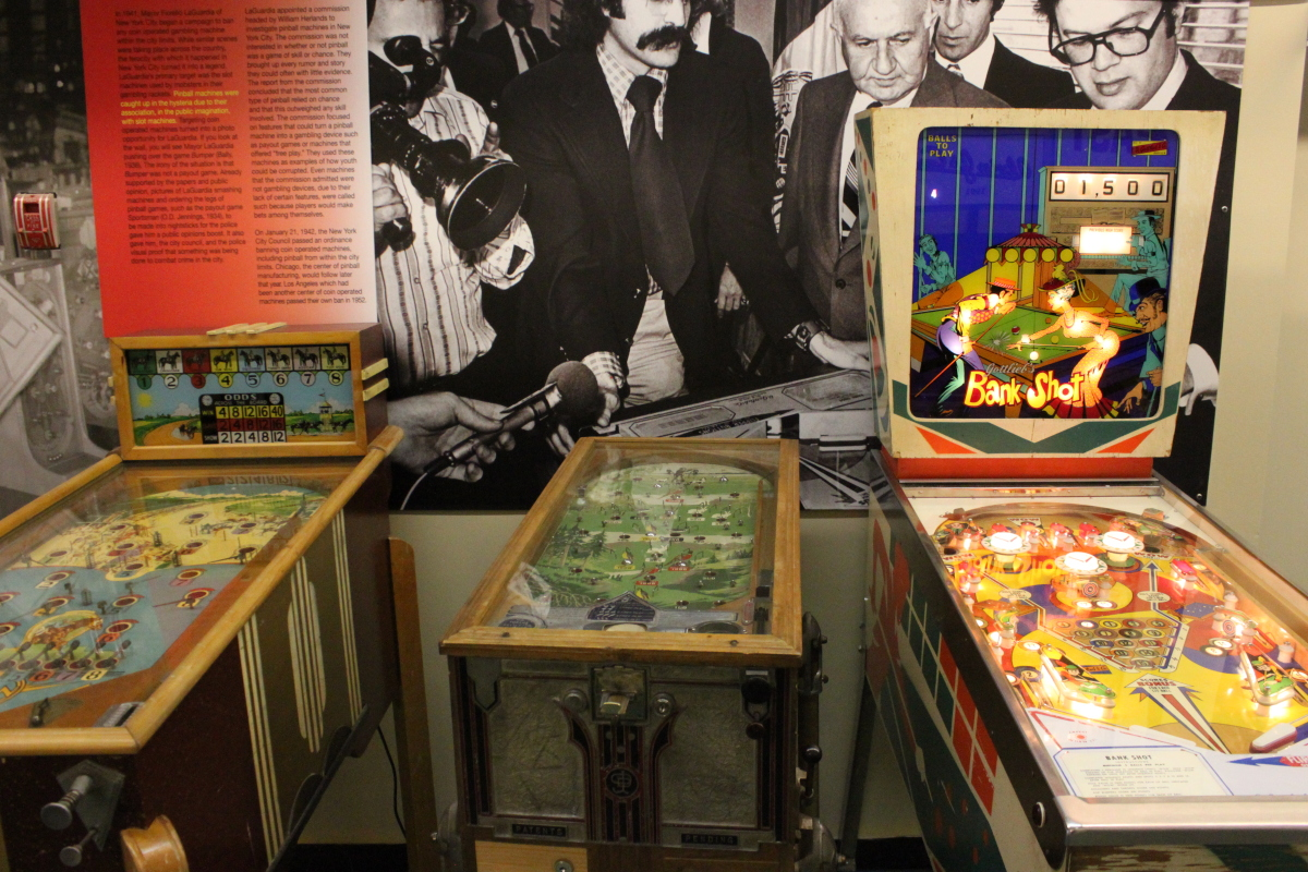 Vintage games tell the story of the evolution of pinball.
