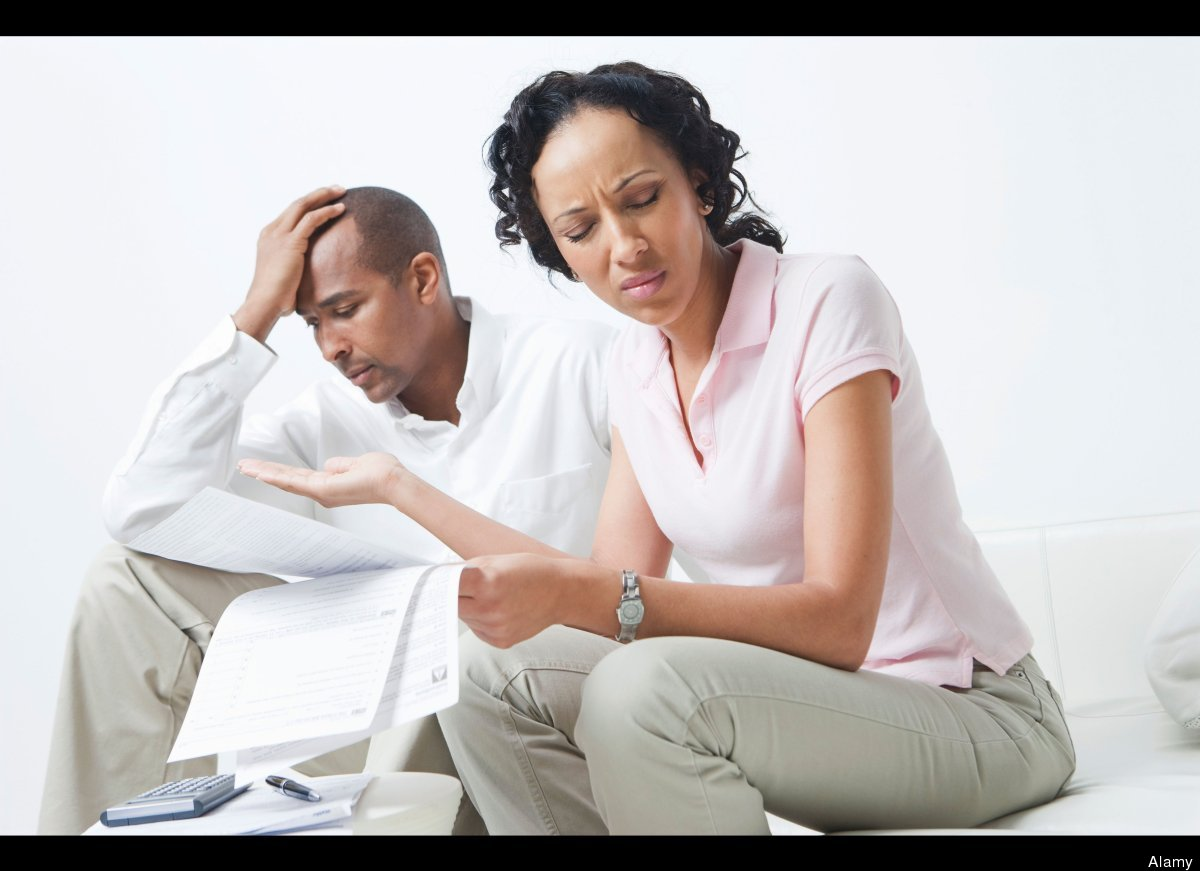 Nearly half of couples surveyed argued over unexpected expenses.