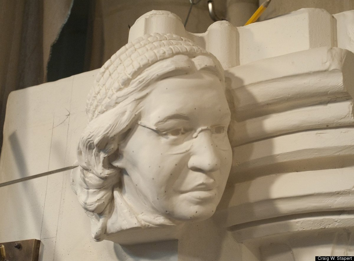 The plaster model. <em>Photo by Craig W. Stapert/Washington National Cathedral</em>