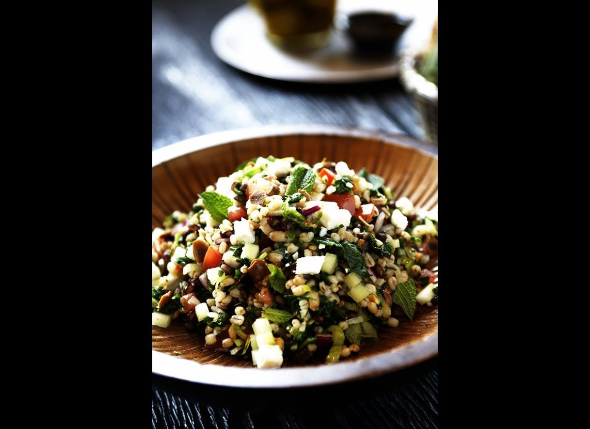 """The contrasting hues of the different types of barley make this salad as colorful as it is delicious.  <strong><a href=""""htt"""