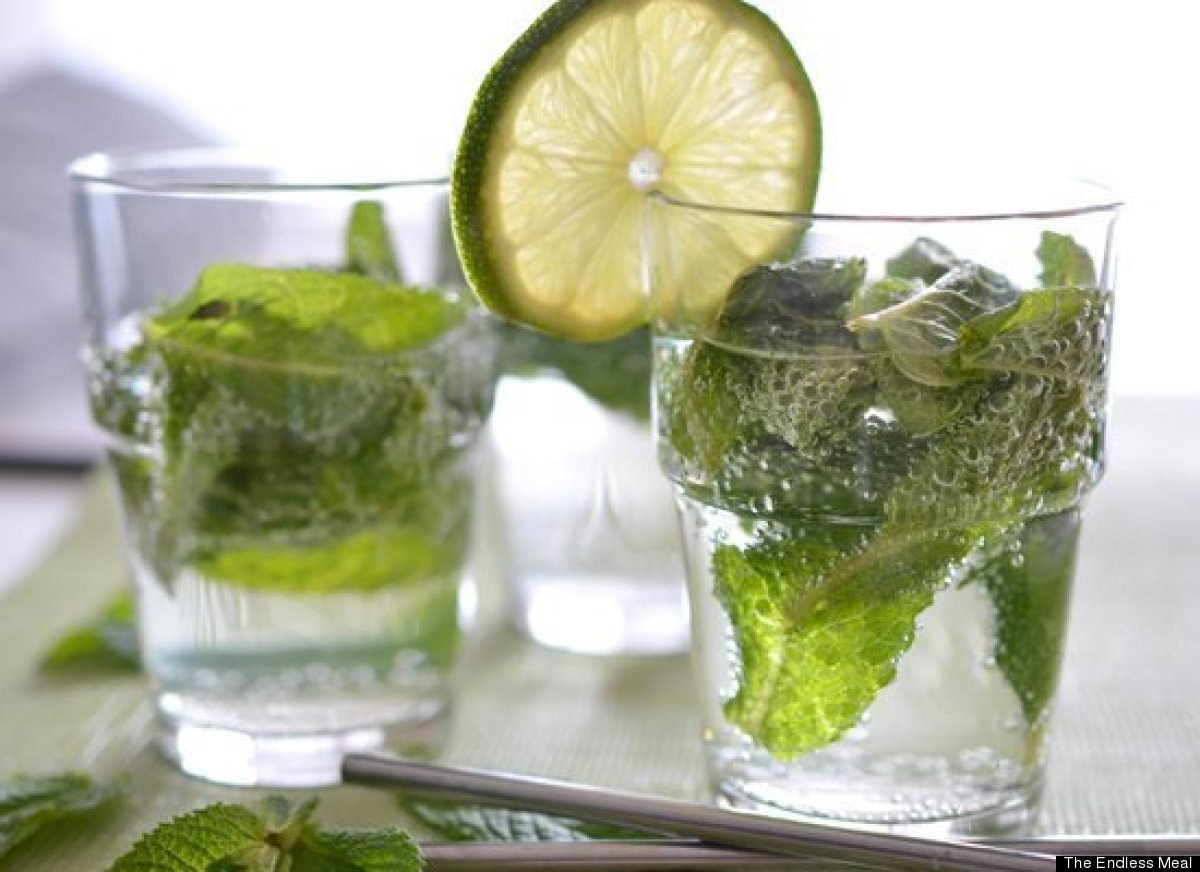The best Cuban mojitos are made with just five ingredients: mint leaves, sugar, lime juice, white rum and soda to top it all