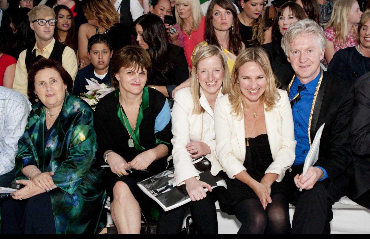 Suzy Menkes, Cathy Horyn, Sarah Burton, Sue Stemp, Philip Treacy