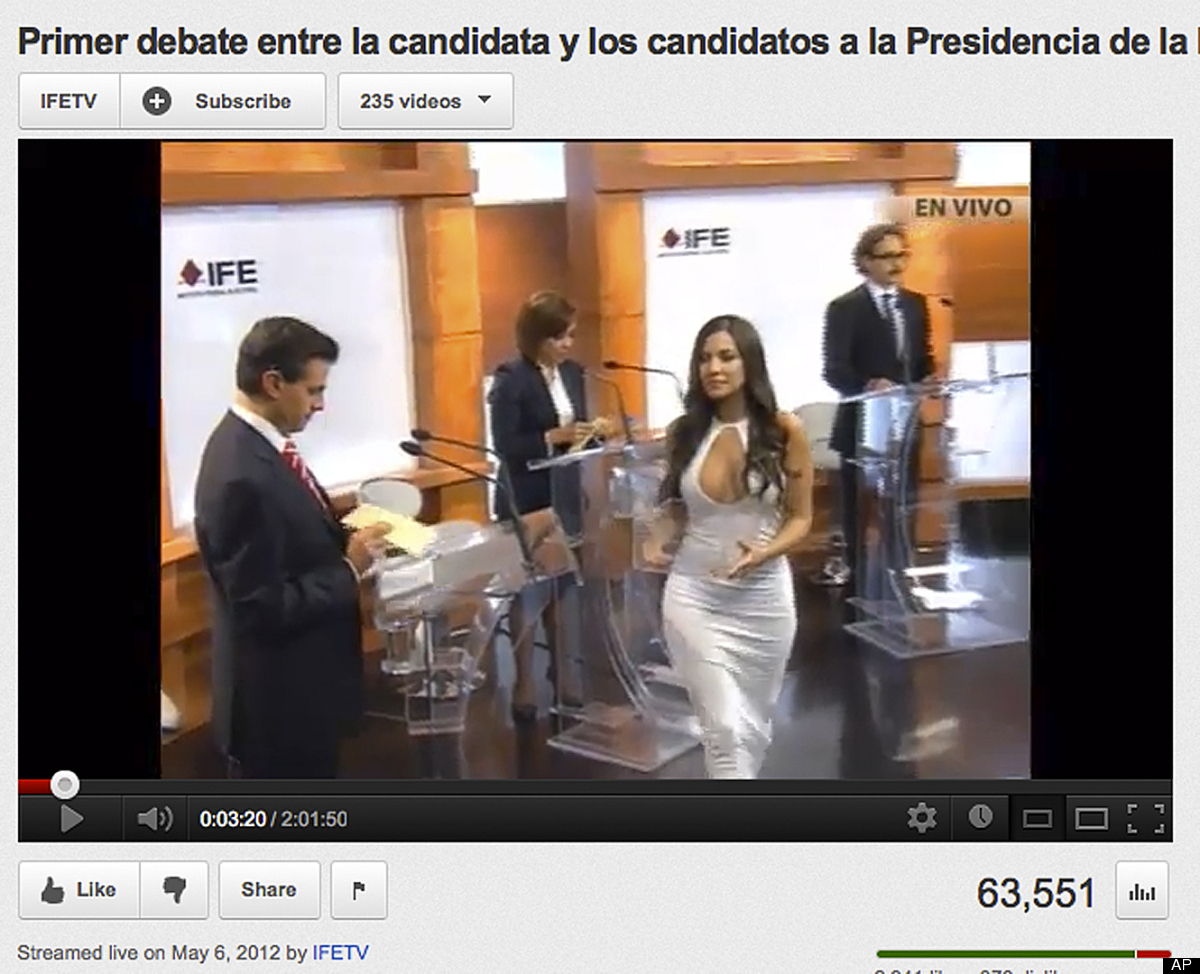 In this screen grab taken from Mexico's Federal Electoral Institute's YouTube channel, Julia Orayen, second from right, carri