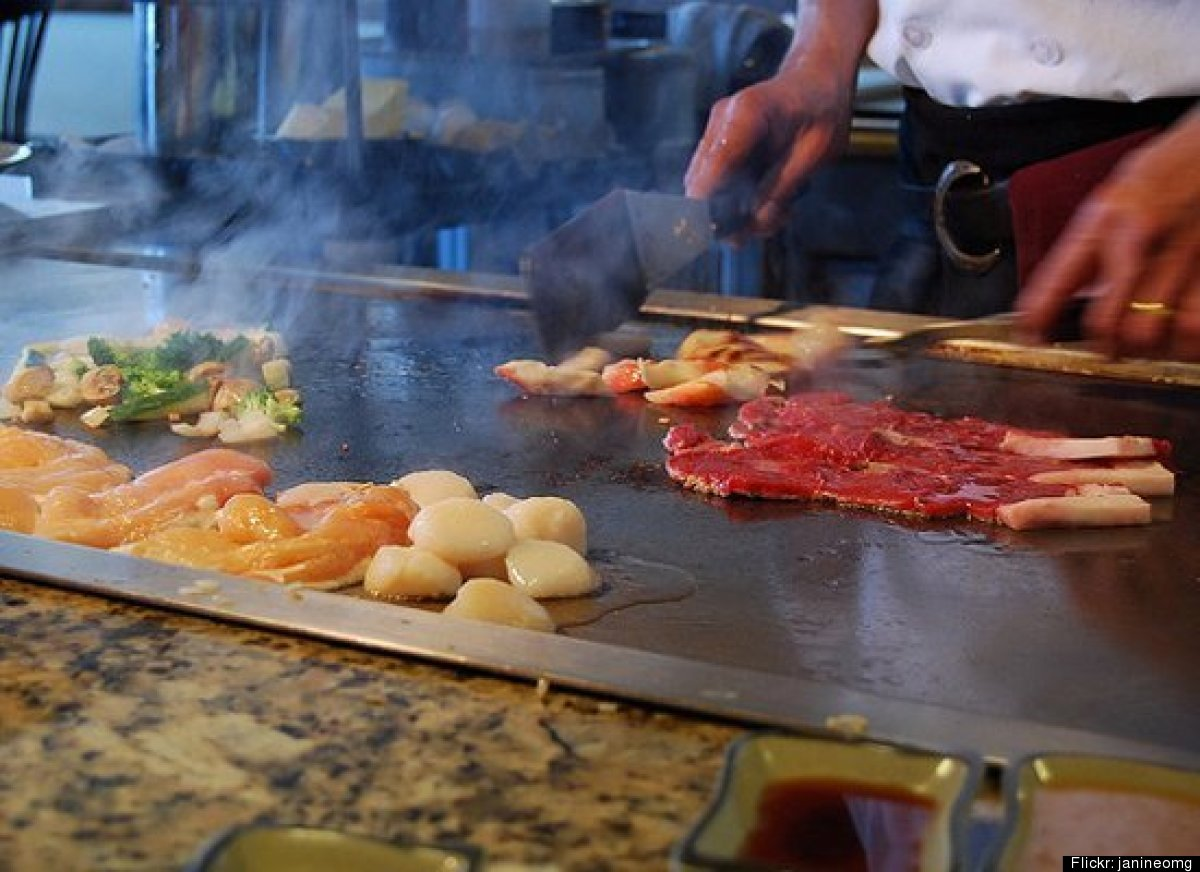 All year round you can find Japanese chefs using the <strong>teppanyaki grill</strong> (pictured), a large electric grill wit