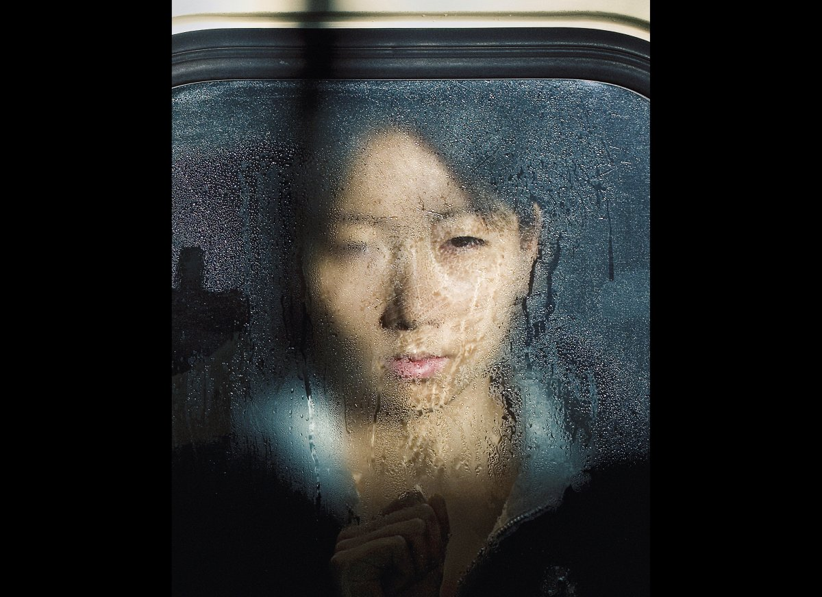 Tokyo Compression, #18 Chromogenic Colour Print, 2009  <em>To see more great pictures of Michael Wolfe's subway portraits
