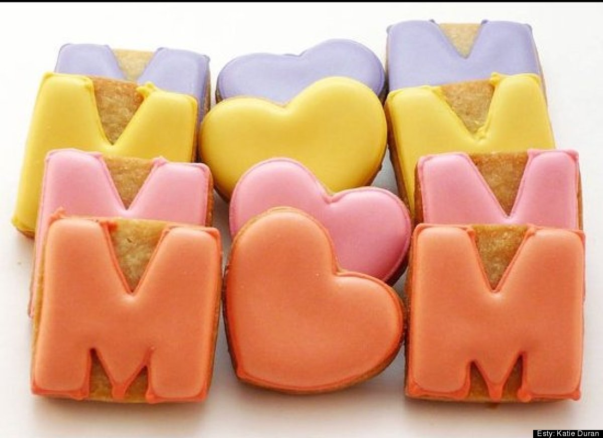 """Give Mom a sweet treat next week with this delicious, colorful <a href=""""http://www.etsy.com/listing/97930481/decorated-cookie"""