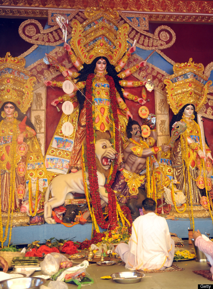 Durga, lovingly called Maa Durga by Hindus, is a form of Shakti, the creative feminine force. She is depicted in the form of
