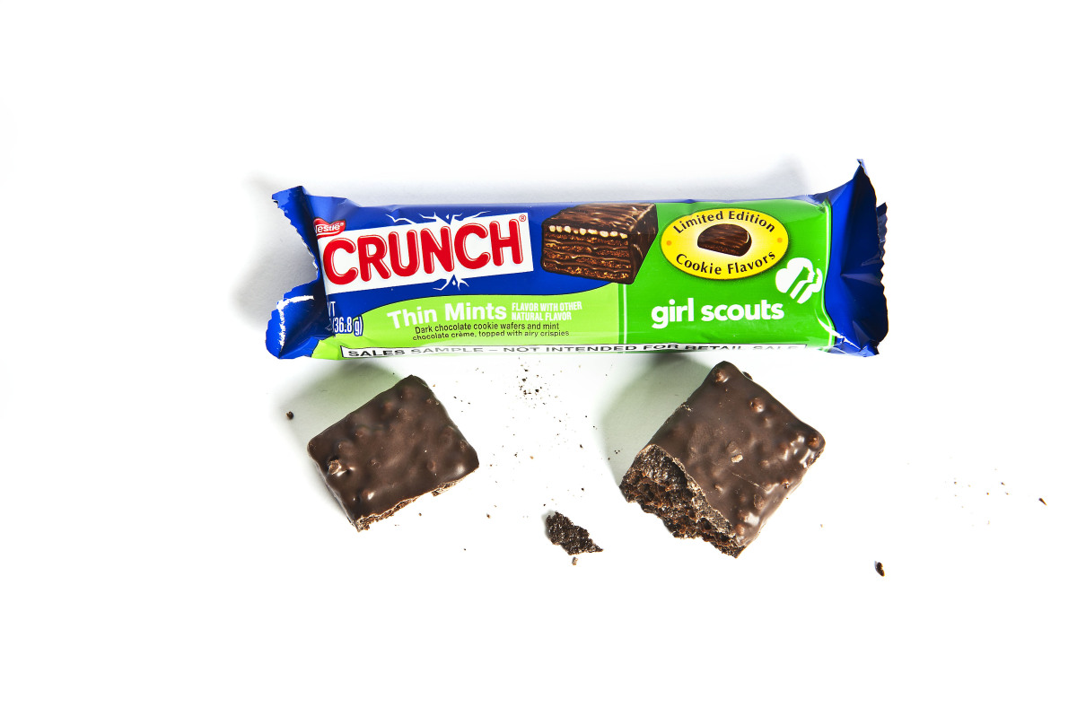 """While this was """"a little bit dryer"""" than the Thin Mint cookie, many of us preferred the bar to the cookie thanks to the added"""