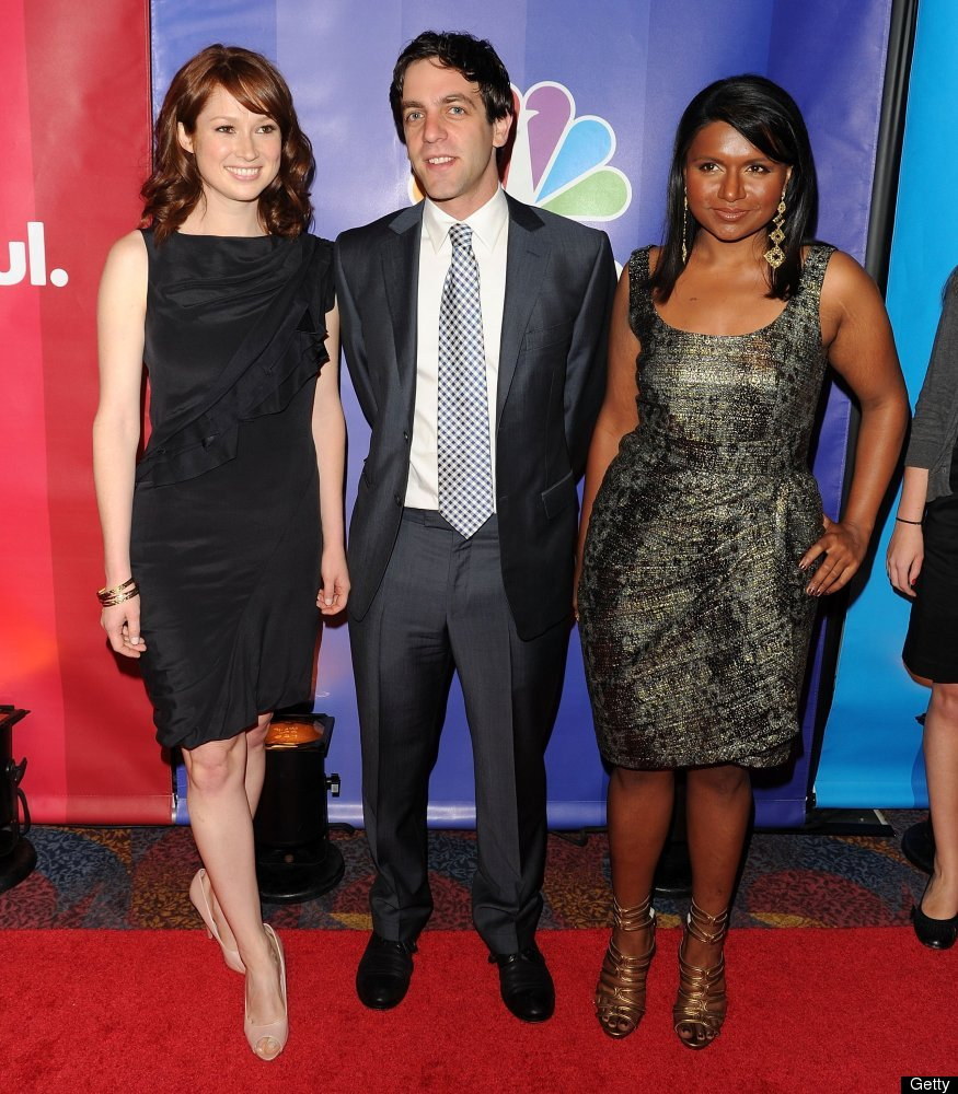 "B.J. Novak and Ellie Kemper, Kaling's undeniably adorable ""Office"" co-stars, are two of her close friends, and Novak is also"