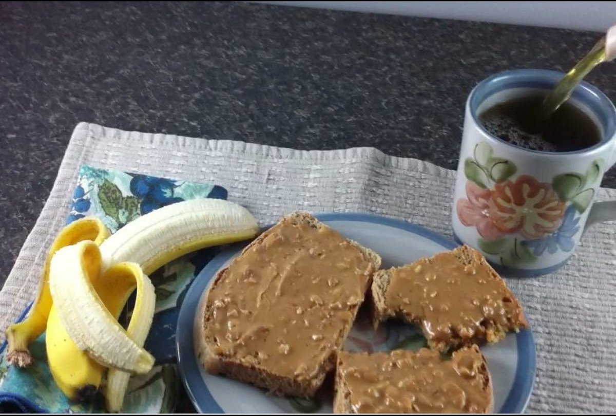 """Start your day with a peanut butter on toast (<a href=""""http://www.glycemicindex.com/foodSearch.php?num=2383&ak=detail"""" target"""
