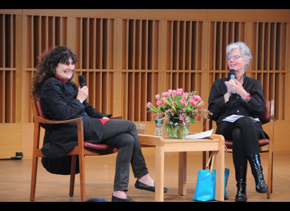 Ruth Reichl and Faith Middleton spoke about knowing the history of what one eats—where the food comes from and the legacy of