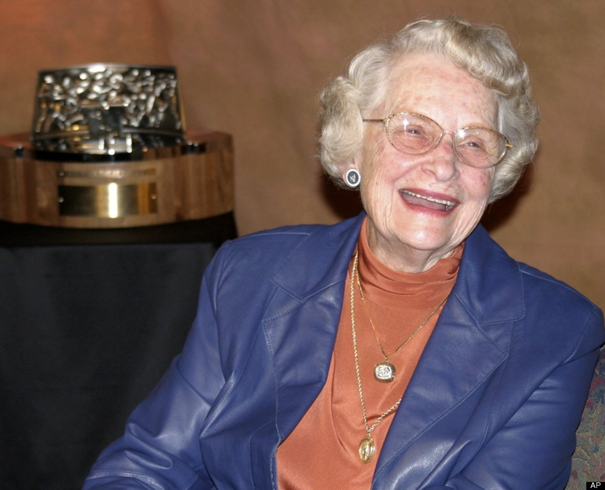Virginia McCaskey,  principal owner of the Chicago Bears, mother of 11.