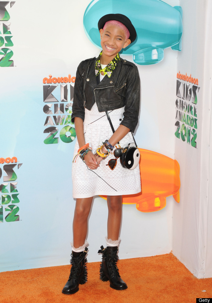 LOS ANGELES, CA - MARCH 31:  Actress/singer Willow Smith attends Nickelodeon's 25th Annual Kids' Choice Awards  held at Galen