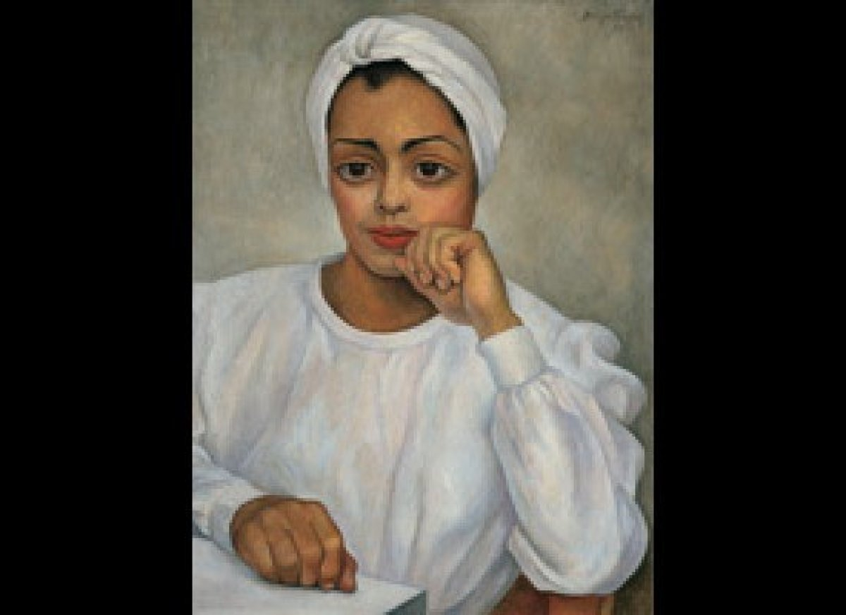Diego Rivera. Irma Mendoza, 1950. Oil on canvas. 28 x 19-‐5/8 in. Collection of Andrés Blaisten. Reproduced with the kind pe