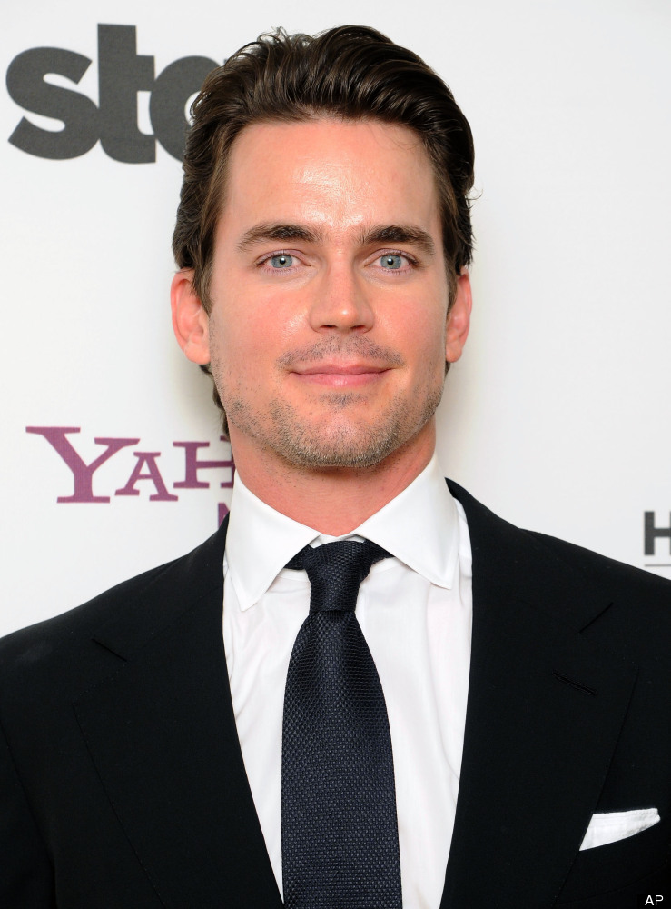 "The 34-year-old ""White Collar"" hunk <a href=""http://www.huffingtonpost.com/2012/02/13/matt-bomer-comes-out-gay-thanks-partner"