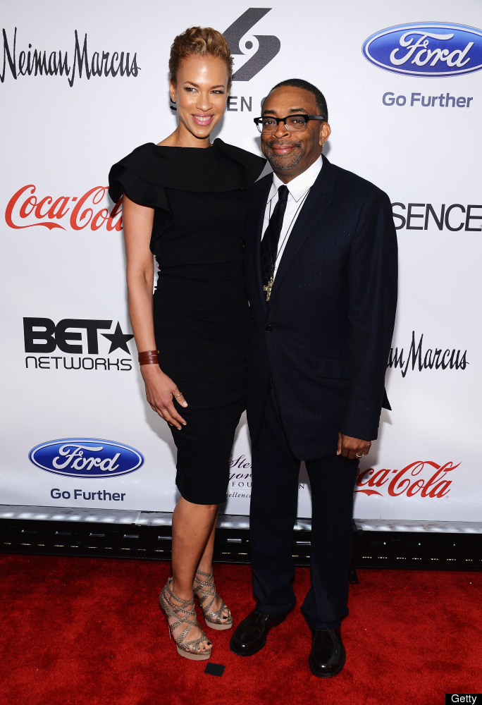 NEW YORK, NY - MAY 14:  Tonya Lewis Lee and Spike Lee attend Screen Gems Presents The Steve & Marjorie Harvey Foundation Gala
