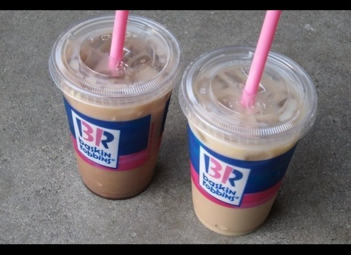 The ice cream chain's Iced Cappy Mocha Blast definitely delivers a blast — of calories, that is. A large size contains a whop