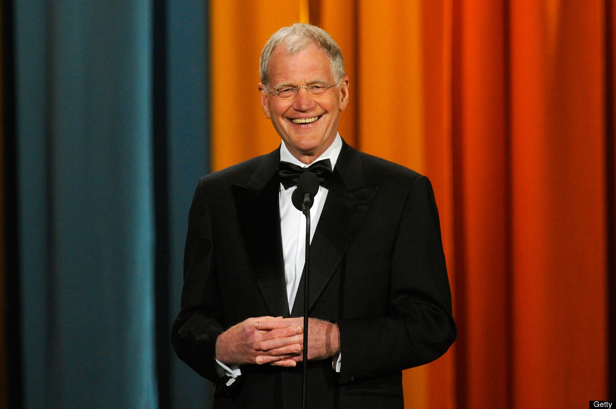 NEW YORK, NY - MARCH 26: David Letterman speaks onstage at the First Annual Comedy Awards at Hammerstein Ballroom on March 26