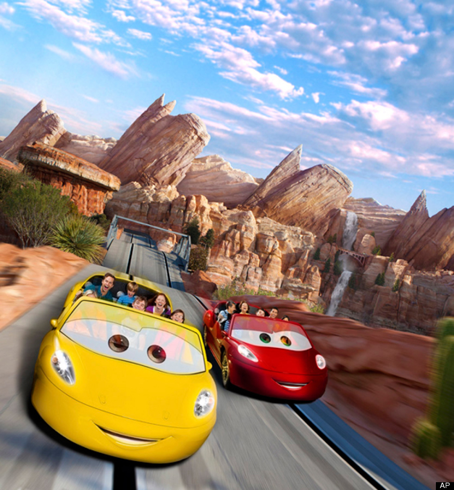 """This 12-acre addition to Disney California Adventure consists of three attractions spun off of the """"Cars"""" movie franchise."""