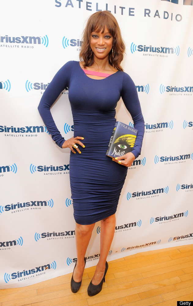 NEW YORK, NY - SEPTEMBER 12:  Model and media personality Tyra Banks promotes her new book 'Modelland' during a visit to Siri