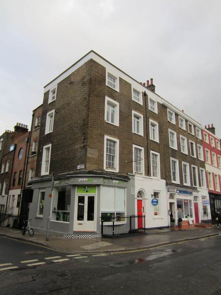 The old address, 10 Norfolk Street has been changed: it's now 22 Cleveland Street. The Dickens family arrived there in 1815 f