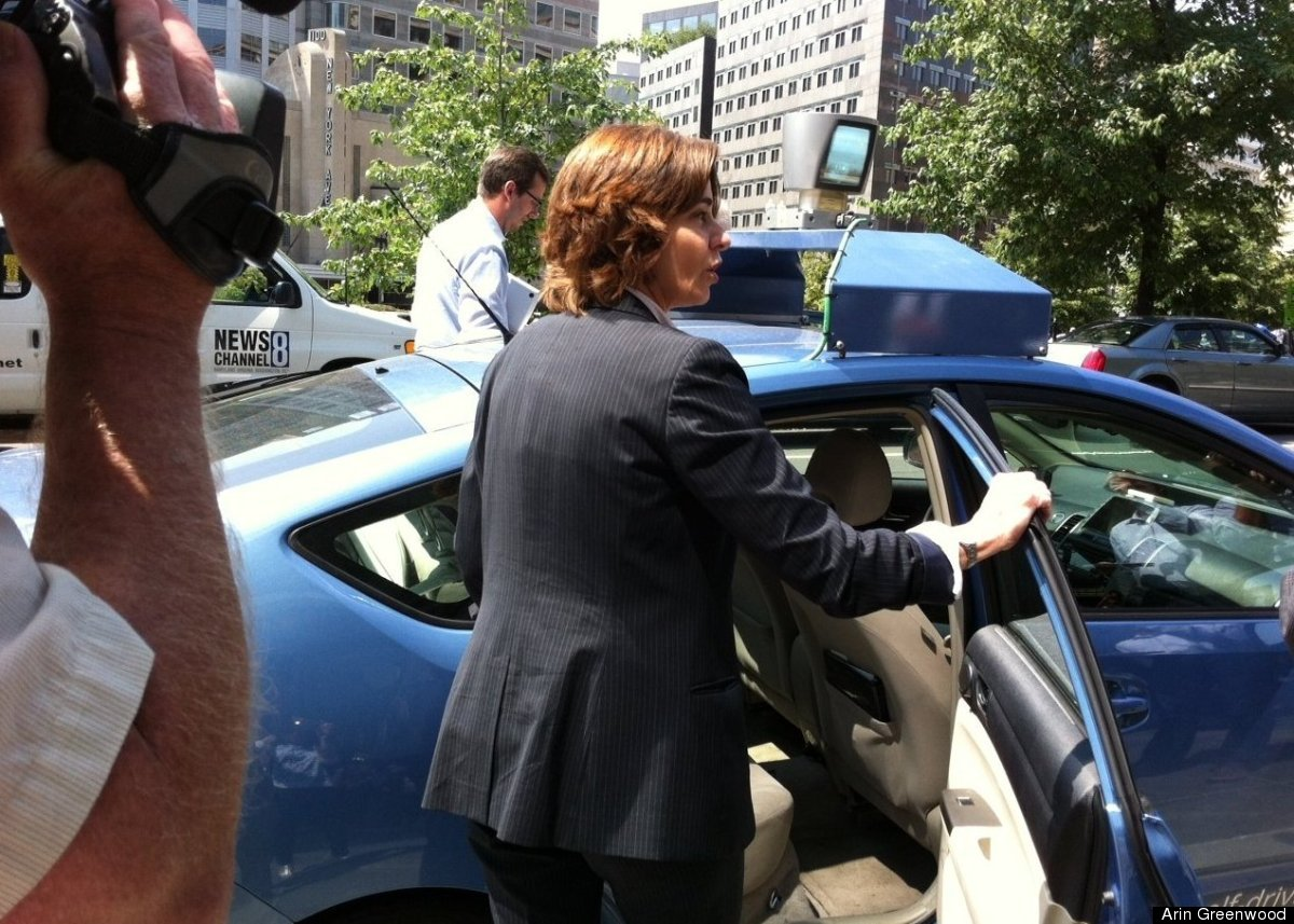 D.C. Councilmember Mary Cheh (D-Ward 3) took a test ride in Google's self-driving car.