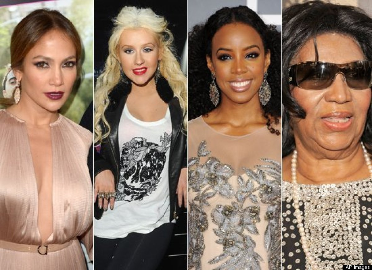 A) Jennifer Lopez  B) Christina Aguilera  C) Kelly Rowland D) Aretha Franklin