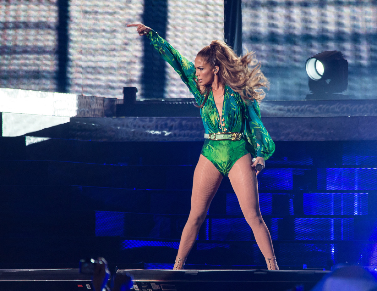 BRONX, NY - JUNE 04:  Jennifer Lopez performs at Orchard Beach on June 4, 2014 in Bronx, New York.  (Photo by Dave Kotinsky/G