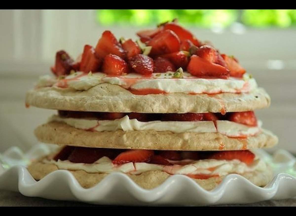 "As Stephanie, who first tested Heena's recipe said, ""it's like pavlova revved up."" - A&M