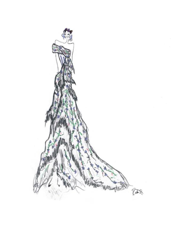 Zerlina Concept Design with Swarovski Elements by Kate and Laura Mulleavy of Rodarte for the LA Philharmonic Don Giovanni ope