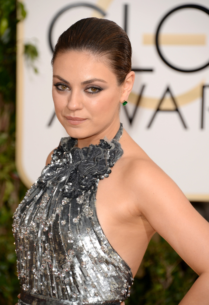 BEVERLY HILLS, CA - JANUARY 12:  Actress Mila Kunis attends the 71st Annual Golden Globe Awards held at The Beverly Hilton Ho