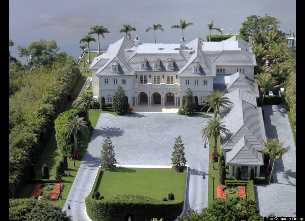 An aerial view of the $74 million home.