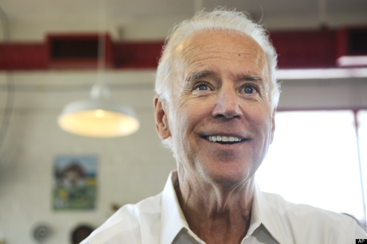 Vice President Joe Biden visits at Hog father's Old Fashioned BBQ, Thursday, May 17, 2012, in Washington, Pa. (AP Photo/Julia