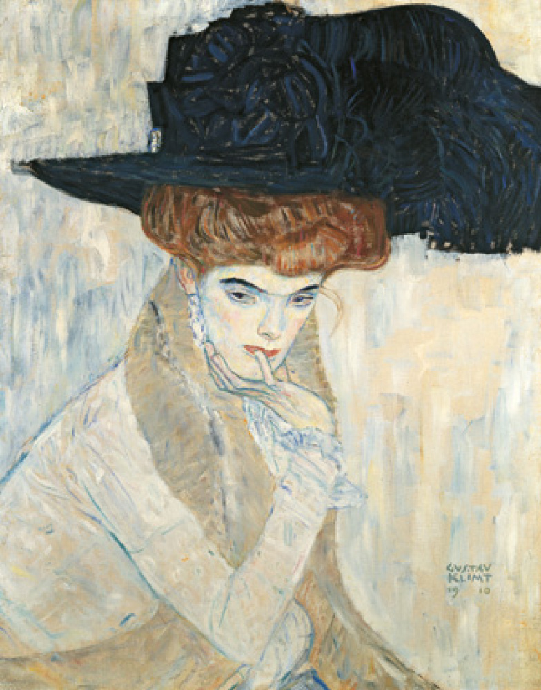 Gustav Klimt, 'The Black Feather Hat,' 1910. Courtesy of Neue Galerie.