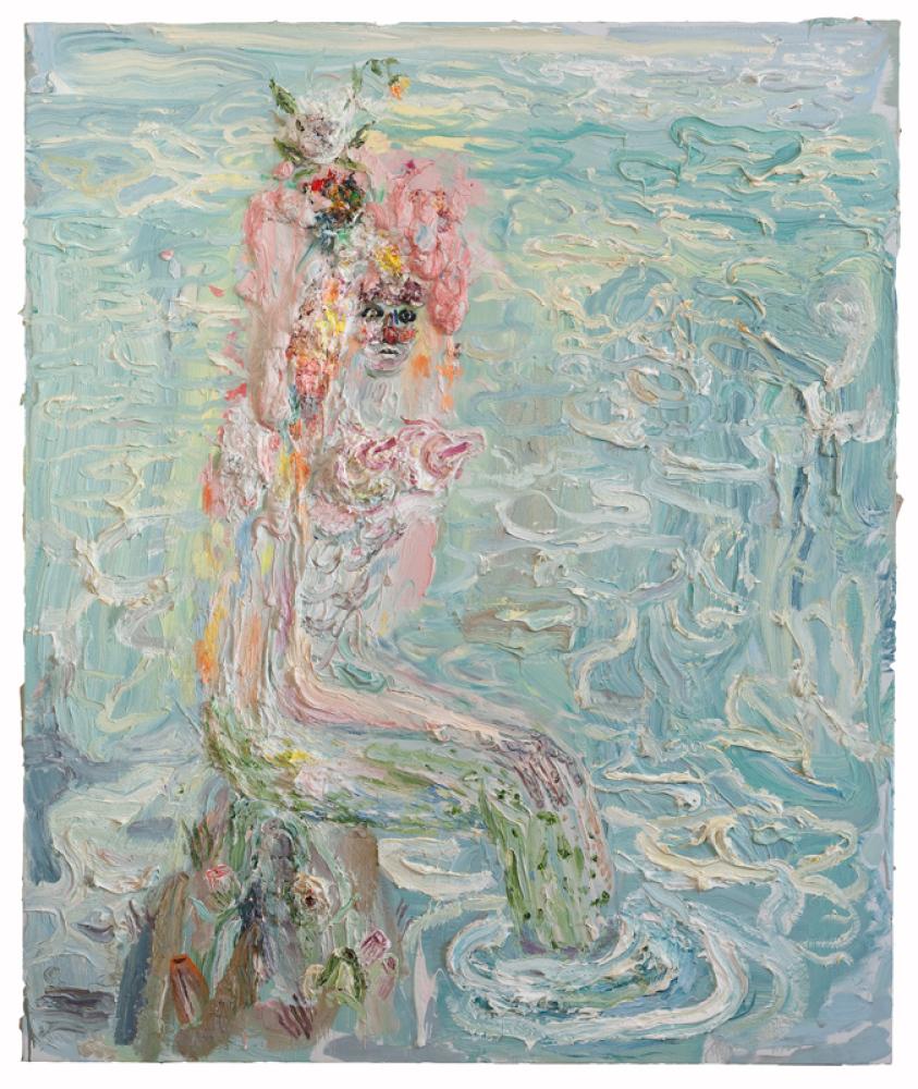 """""""Ariel."""" 72"""" x 60,"""" oil on linen, 2012."""