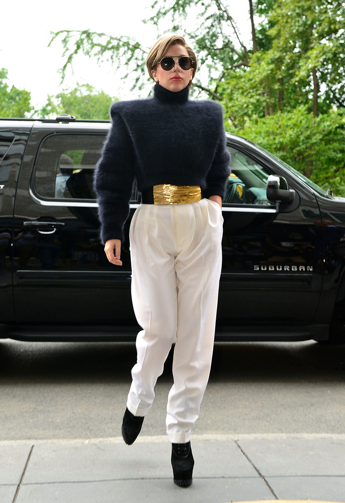 It looks like Lady Gaga is taking a page out of Michael Jackson's style book. But instead of looking like the King of Pop, Ga