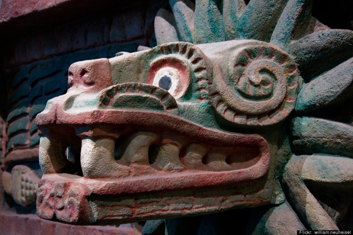 """The exhibit """"Children of the Plumed Serpent: the Legacy of Quetzalcoatl in Ancient Mexico"""" at the Los Angeles County Museum o"""