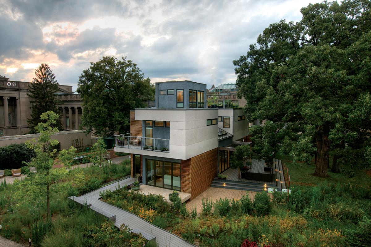 The Smart Home's exterior.