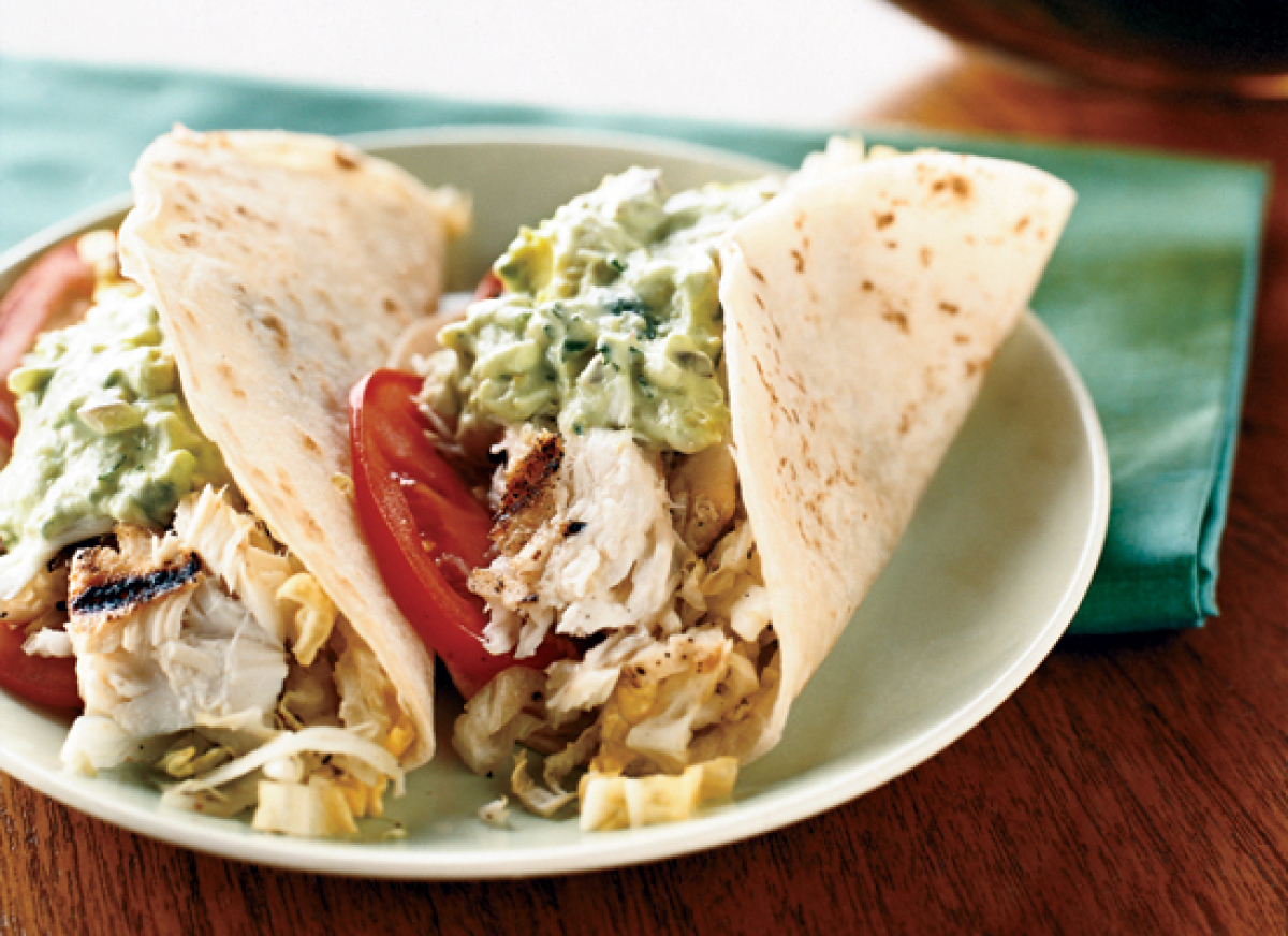 These tacos feature tender red snapper fillets that are grilled instead of fried for a healthier take on the classic Californ