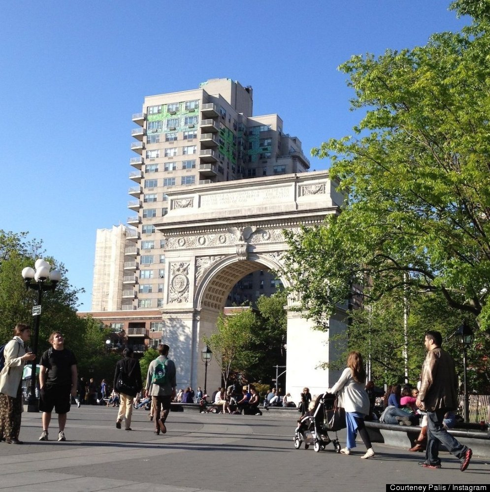 Our original photo of the Arch at New York City's Washington Square Park.