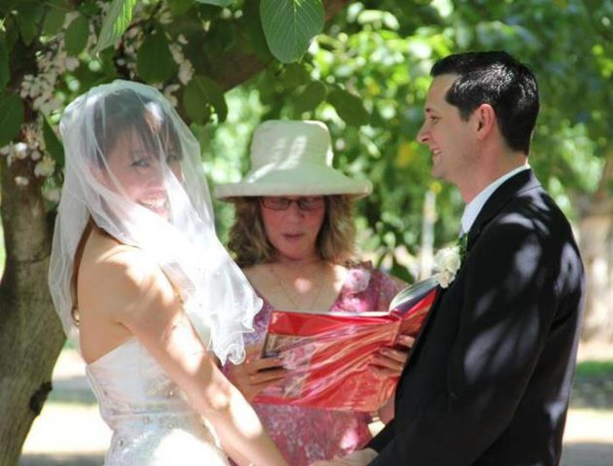 Proceeded over by my aunt, we held the ceremony under the walnut trees.