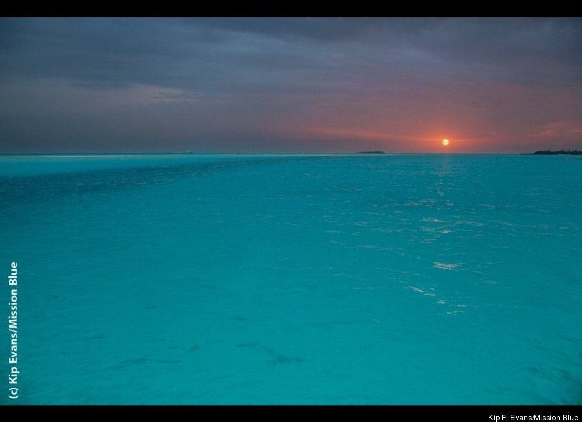 Sunset at Hawksbill Cay